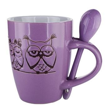 Чашка S&T Сови з ложкою керамічна 320мл