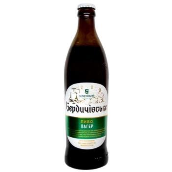 Пиво Бердичівське Лагер светлое 3,8% 0,5л - купить, цены на СитиМаркет - фото 1