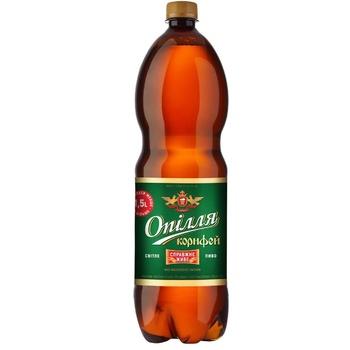 Пиво Ополье Корифей светлое 3.7% 1л - купить, цены на Ашан - фото 1