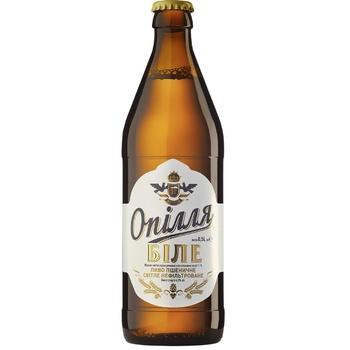 Пиво Опілля Біле світле нефільтроване 4% 0,5л - купити, ціни на Ашан - фото 1
