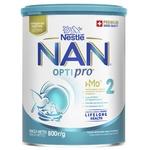 Смесь детская молочная сухая Nestle Nan 2 Optipro с олигосахаридом 2'FL от 6 месяцев 800г