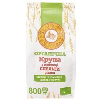 Крупа Galeks-Agro пшенична органічна з спельти різана 800г