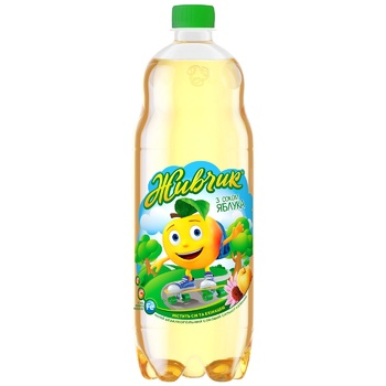 Напиток газированный Оболонь Живчик Яблоко 1л - купить, цены на УльтраМаркет - фото 1