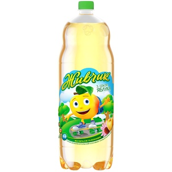 Zhyvchyk Apple Juice-Containing Carbonated Drink 2l - buy, prices for CityMarket - photo 1