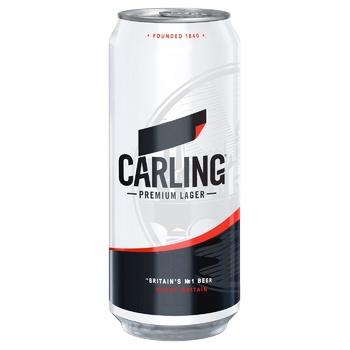 Пиво Карлинг светлое пастеризованное 4%об. 500мл