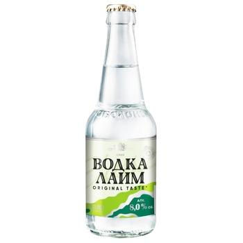 Obolon Vodka Lime Low-alcohol beverage 0,33l glass - buy, prices for CityMarket - photo 1