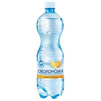 Вода Оболонська зі смаком лимона і апельсина сильногазована 2л - купити, ціни на CітіМаркет - фото 1