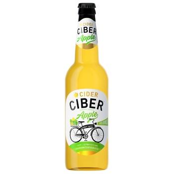 Сидр Ciber Яблучний напівсолодкий 5-6% 0,5л - купити, ціни на ЕКО Маркет - фото 1