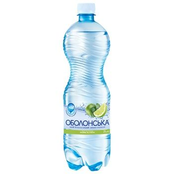 Obolonska Sparkling Water with Lime and Mint Flavor 2l - buy, prices for CityMarket - photo 1