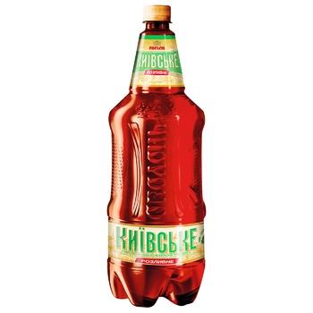 Пиво Оболонь Київське Розливне світле 3,8% 1,95л - купити, ціни на ЕКО Маркет - фото 1