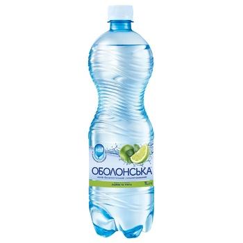 Вода Оболонская сильногазированная со вкусом лайма и мяты 1л - купить, цены на СитиМаркет - фото 1
