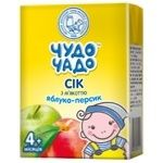Chudo-Chado apple-peach juice with pulp for children from 4 months 200ml
