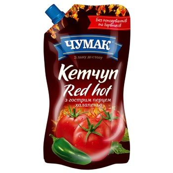 Кетчуп Чумак Red Hot 250г - купити, ціни на CітіМаркет - фото 1