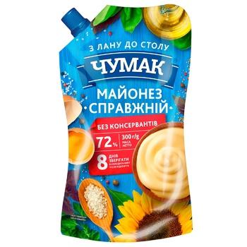 Майонез Чумак Настоящий 72% 300г - купить, цены на ЕКО Маркет - фото 1