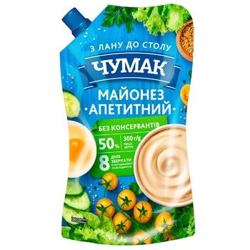 Майонез Чумак Аппетитный 50% 300г - купить, цены на Пчёлка - фото 1