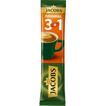 Напій кавовий Jacobs Original 3в1 в стіках 12г - купити, ціни на CітіМаркет - фото 1