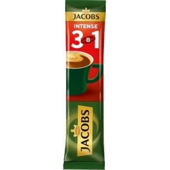 Напиток кофейный Jacobs 3в1 Intense растворимый 12г - купить, цены на ЕКО Маркет - фото 1