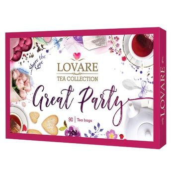 Набор чая Lovare Tea Collection Great Party 90шт