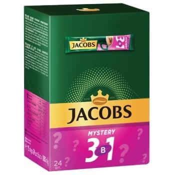 Напиток кофейный Jacobs 3в1 Mystery растворимый 15г х 24шт