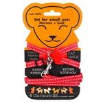 Collar Dog Extreme Harness with Leash for Small Animals Nylon Red 22-29cm