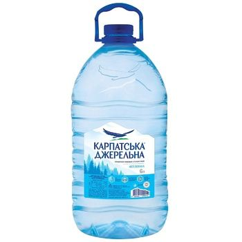 Karpatska Dzherelna Non-carbonated Mineral Water 6l - buy, prices for CityMarket - photo 1
