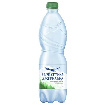 Light sparkling mineral water Karpatska Dzherelna plastic bottle 500ml Ukraine - buy, prices for Vostorg - photo 1