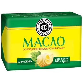 Sweet cream butter Club syru Selyanske 73% 200g - buy, prices for Auchan - photo 1