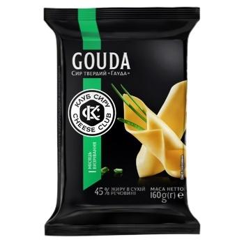 Cheese Club Gouda Hard Cheese 45% 160g - buy, prices for CityMarket - photo 1