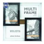 Мультирамка Velista для 4 фотографий 10*15см черно-белая