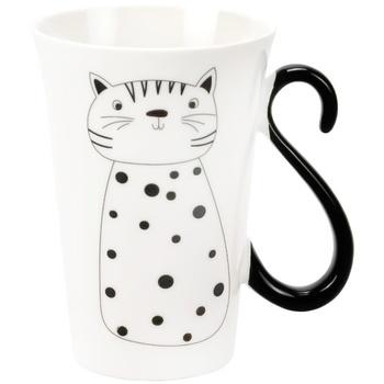 Limited Edition Cat Funny Porcelain Cup 380ml - купить, цены на Ашан - фото 1
