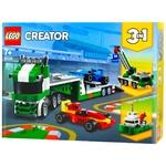 Конструктор Lego Creator 3в1 Транспортер гоночних автомобілів 31113