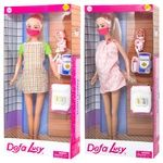 Defa Pregnant Doll with Mask in assortment