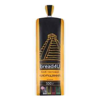 Хліб Bread4U кукурудзяний тостовий 500г - купити, ціни на Ашан - фото 1