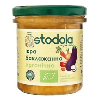Икра Stodola баклажанная органическая 300г - купить, цены на Ашан - фото 1