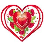 Svit pozdorovlen Volume Card-heart 100*100mm