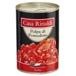 Томаты Casa Rinaldi очищенные кусочки в собственном соку 400г