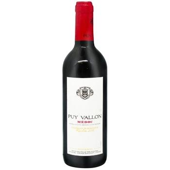 Вино Puy Vallon Medoc красное сухое 12,5% 0,375л