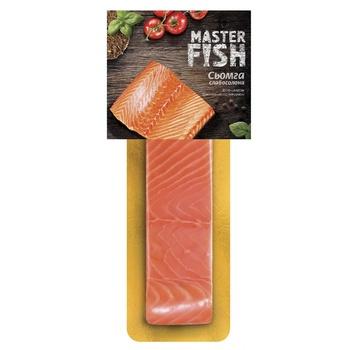Сьомга Master Fish слабосолона філе-шматок 180г