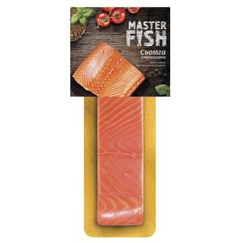 Сьомга Master Fish філе-шматок слабосолена 130г - купити, ціни на Ашан - фото 1
