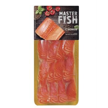 Сьомга Master Fish нарізка слабосолена 90г