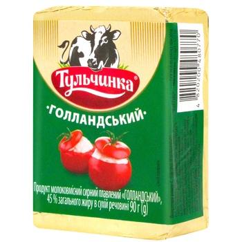 Продукт сырный плавленый Тульчинка Голландский 45% 90г - купить, цены на ЕКО Маркет - фото 1