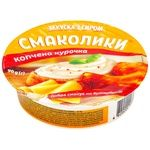 Закуска с сыром Тульчинка Вкусняшки копченая курица 55% 90г