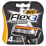 Кассеты для бритья BIC Flex Hybrid 3 сменные 4шт