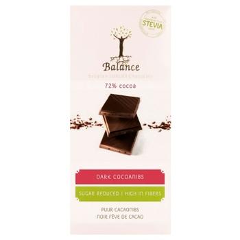 Balance Sugar-Free Dark Chocolate 72% 100g