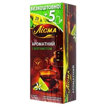 Чай чорний Лісма Ароматний з бергамотом в пакетиках 25шт*1,5г - купити, ціни на ЕКО Маркет - фото 1