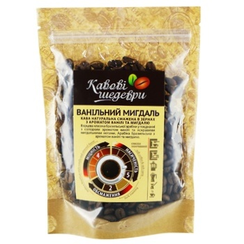 Coffee Beans with vanilla almond flavor - buy, prices for Auchan - photo 1