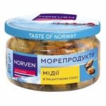 Мидии Norven пикантные в масле 200г