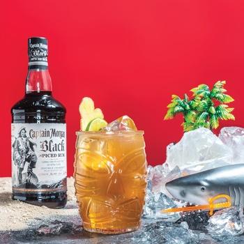 Напій алкогольний Captain Morgan Black Spiced на основі Карибського рому 40% 0,7л - купити, ціни на CітіМаркет - фото 2