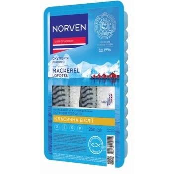 Скумбрія Norven філе в олії 250г - купити, ціни на CітіМаркет - фото 1