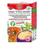 Каша Golden Kings of Ukraine 5 Злаков с молотыми ядрами тыквенных семечек, молотыми семенами кунжута и льна 350г